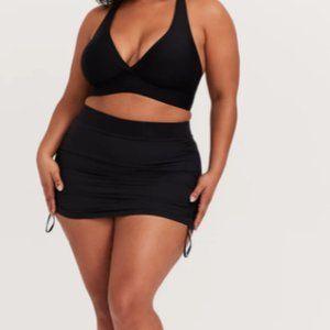 TORRID Black Swim Skirt Side Ruching Large